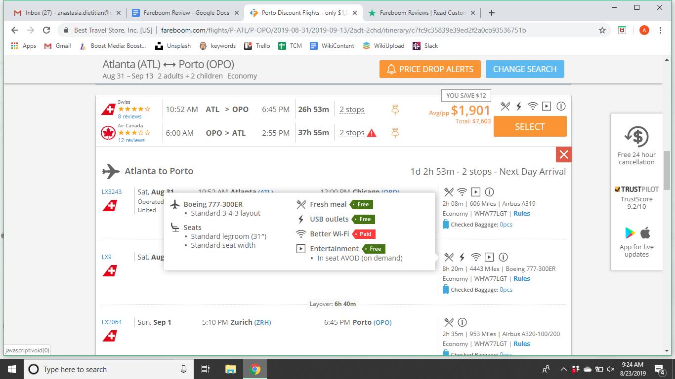 Fareboom Flight Details Review